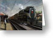 Steam Greeting Cards - Mainline Memories Greeting Card by David Mittner
