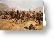 Regiment Greeting Cards - Maiwand Greeting Card by Richard Caton II Woodville