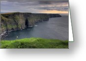 Canon 7d Greeting Cards - Majestic Cliffs of Moher co. Clare Ireland Greeting Card by Pierre Leclerc