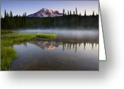 Washington Greeting Cards - Majestic Dawn Greeting Card by Mike  Dawson