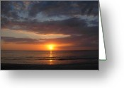 Digital-photography Photo Greeting Cards - Majestic Glow Greeting Card by Amanda Vouglas