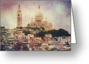 Paris Greeting Cards - Majestic Haze Greeting Card by Andrew Paranavitana