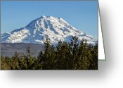 Washington State Greeting Cards - Majestic Greeting Card by Kelley King