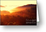 Thomas R. Fletcher Greeting Cards - Majestic Mountain Sunrise Greeting Card by Thomas R Fletcher