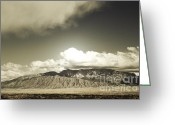 Storm Prints Greeting Cards - Majestic Range Greeting Card by Andrea Hazel Ihlefeld