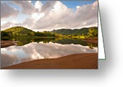 St. Lucia Photographs Greeting Cards - Majestic Sunrise Greeting Card by Bill Mortley