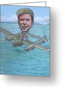 American Airmen Greeting Cards - Major Richard Bong Greeting Card by Murray McLeod