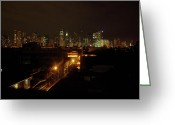 Nightlight Greeting Cards - Makati Skycraper Greeting Card by SAIGON De Manila 