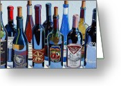 Oil Greeting Cards - Make Mine Virginia Wine Number Four Greeting Card by Christopher Mize