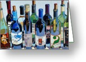 Trumpet Glass Greeting Cards - Make Mine Virginia Wine Number Three Greeting Card by Christopher Mize