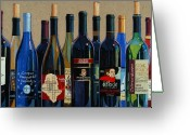 Wine  Greeting Cards - Make Mine Virginia Wine Number Two Greeting Card by Christopher Mize