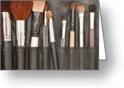 Selection Greeting Cards - Make up brushes Greeting Card by Tom Gowanlock