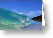 ; Maui Greeting Cards - Makena Glass Greeting Card by James Roemmling
