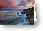 Sea Greeting Cards - Makewehi Sunset Greeting Card by Mike  Dawson