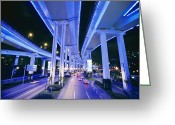 City Lights And Lighting Greeting Cards - Making Use Of Vertical Space, Three Greeting Card by Paul Chesley