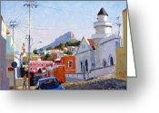 Roelof Rossouw Greeting Cards - Malay Quarter Cape Town Greeting Card by Roelof Rossouw