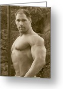 Starrs Greeting Cards - Male MuscleArt Classic Greeting Card by Jake Hartz