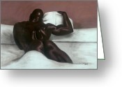 African American Greeting Cards - Male Nude Greeting Card by L Cooper