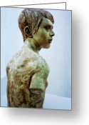 Male Sculpture Greeting Cards - Male Youth Greeting Card by Sarah Biondo