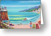 Sandcastle Greeting Cards - Malibu Shoes Optional Greeting Card by Frank Strasser