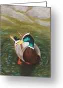 Decor Pastels Greeting Cards - Mallard Greeting Card by Anastasiya Malakhova
