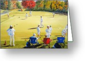 Player Greeting Cards - Mallet Masters Greeting Card by Shirley Braithwaite Hunt