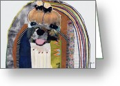 Contemporary Collage Greeting Cards - Maltese  Greeting Card by Michel  Keck