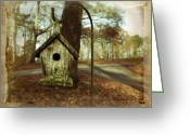Stake Greeting Cards - Mamaws Birdhouse Greeting Card by Steven  Michael