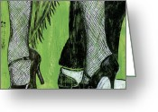 Shoes Greeting Cards - Mambo Greeting Card by Debbie DeWitt