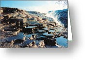 Natural Formations Greeting Cards - Mammoth Hot Springs Greeting Card by Jan Amiss Photography