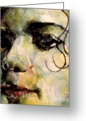 Michael Jackson Greeting Cards - Man in the mirror Greeting Card by Paul Lovering