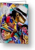 Michael Jackson Greeting Cards - Man in the Mirror Greeting Card by Stacy V McClain