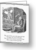 Man In The Moon Greeting Cards - Man In The Moon, 1833 Greeting Card by Granger