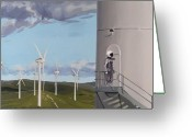 Scott Greeting Cards - Man of La Mancha Greeting Card by Scott Listfield