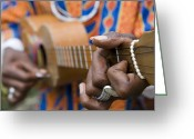 Custom Culture Greeting Cards - Man Playing Caribbean Mandolin, Grand Etang Forest Reserve Visitor Centre,  Grand Etang National Park, St George, Grenada, Central America & The Caribbean Greeting Card by Holger Leue