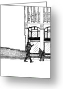 Humans Greeting Cards - Man With Camera Greeting Card by Karl Addison