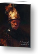 Masterpiece Painting Greeting Cards - Man With The Golden Helmet Greeting Card by Pg Reproductions