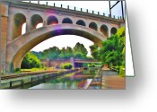 Schuylkill Greeting Cards - Manayunk Canal Greeting Card by Bill Cannon