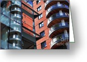 New Britain Greeting Cards - Manchester - Spinningfields  Greeting Card by Hristo Hristov