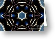 Sacred Photo Greeting Cards - Mandala Star Greeting Card by Cheryl Young