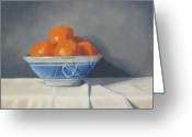 Oranges Greeting Cards - Mandarines Greeting Card by John Holdway