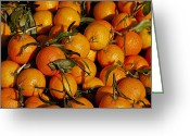 Citrus Fruits Greeting Cards - Mandarins Greeting Card by Joana Kruse