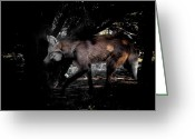 Barry Styles Greeting Cards - Maned Wolf 3834 Greeting Card by Barry Styles