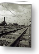 Railroad Track Greeting Cards - Manggarai Station Greeting Card by TeeJe
