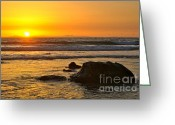Mango Greeting Cards - Mango Horizon Greeting Card by Johanne Peale