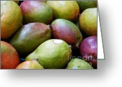 Mango Digital Art Greeting Cards - Mangoes Greeting Card by Methune Hively