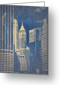 Manhattan Digital Art Greeting Cards - Manhattan 1 Greeting Card by Irina  March