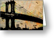 Anthony Jensen Greeting Cards - Manhattan Bound  Greeting Card by Anthony Jensen
