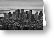 Busy City Greeting Cards - Manhattan Cityscape Greeting Card by Andreas Freund