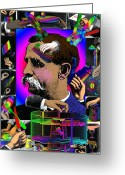 Surrealist Digital Art Greeting Cards - Manipulation Greeting Card by Eric Edelman